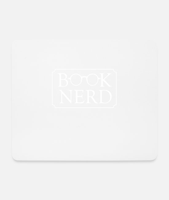 Nerd Apparel Mouse Pads - Nerd - Book Nerd - Mouse Pad white