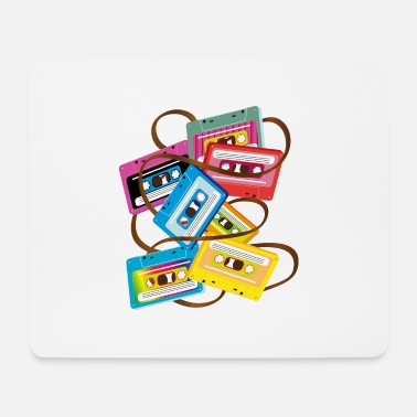 Salad colorful 80s music cassettes with band salad - Mouse Pad