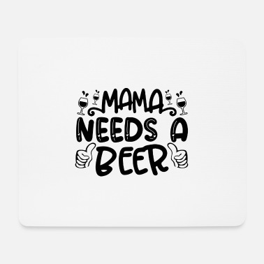 Funny Irish mama needs a beer 01 - Mouse Pad