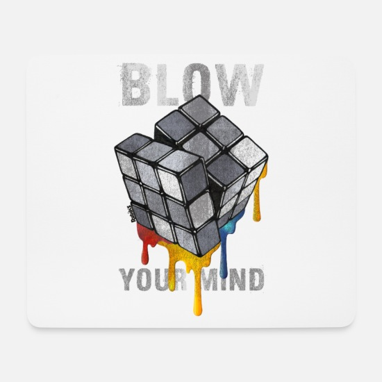 Geek Tappetini mouse  - Rubik's Cube Blow Your Mind - Tappetino mouse bianco