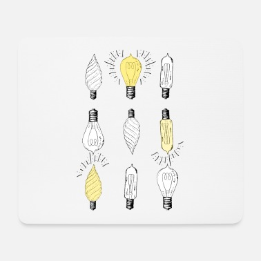 Light Bulb light bulbs - Mouse Pad