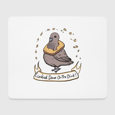 Luckiest Dove! - Mouse Pad (horizontal)