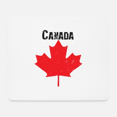 Grungy Grungy Maple leaf design - Mouse Pad