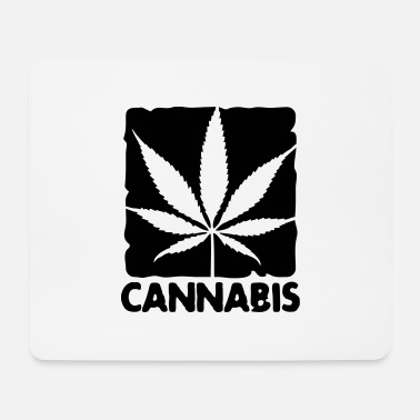Box cannabis leaf boxed - Mouse Pad