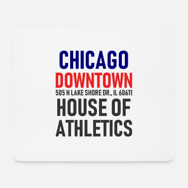 Chicago Chicago Downtown - House of Athletics - Illinois - Tappetino per mouse (orizzontale)