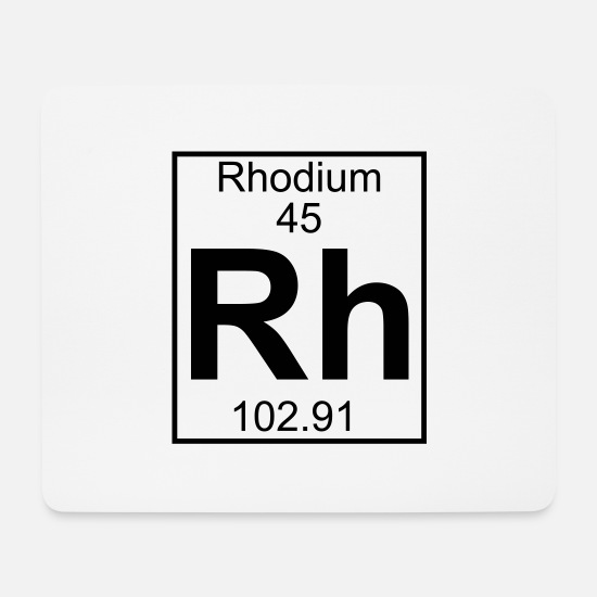 Chemistry Mouse Pads - Rhodium (Rh) (element 45) - Mouse Pad white