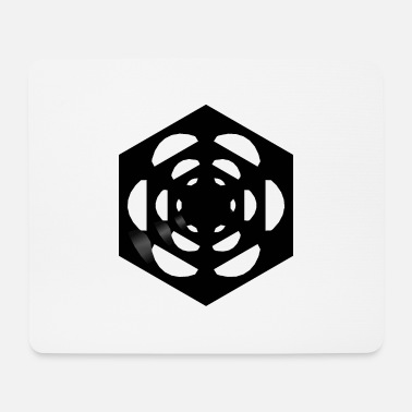 Cube dice in the cube plain black - Mouse Pad