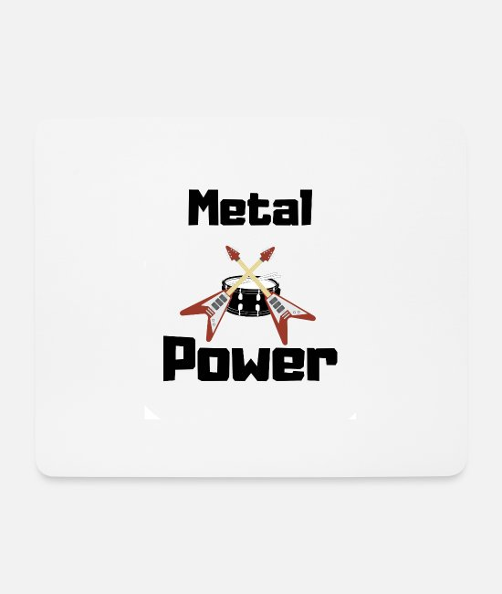 Metalcore Mouse Pads - Metal power - Mouse Pad white