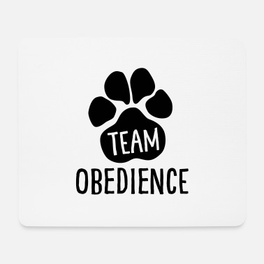 Active With Dog Team Obedience - Dog Sport - Dog Paw - Mouse Pad