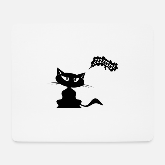 Pet Mouse Pads - Cat with speech bubble - Mouse Pad white