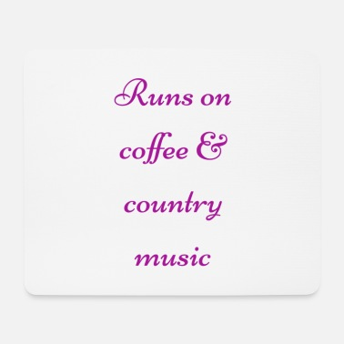 Country Coffee & country - Tapis de souris (format paysage)