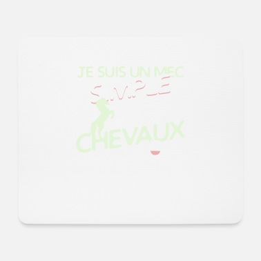 Cheval - un mec simple - Tapis de souris