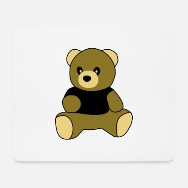 Sit sitting teddy - Mouse Pad