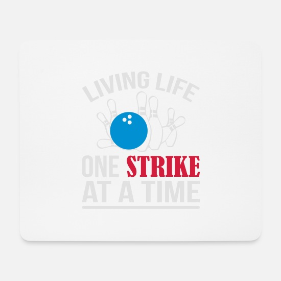 Ball Mousepads  - One Strike Bowling - Mousepad Weiß