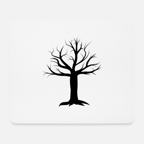 Tree Mouse Pads - Tree design - Mouse Pad white
