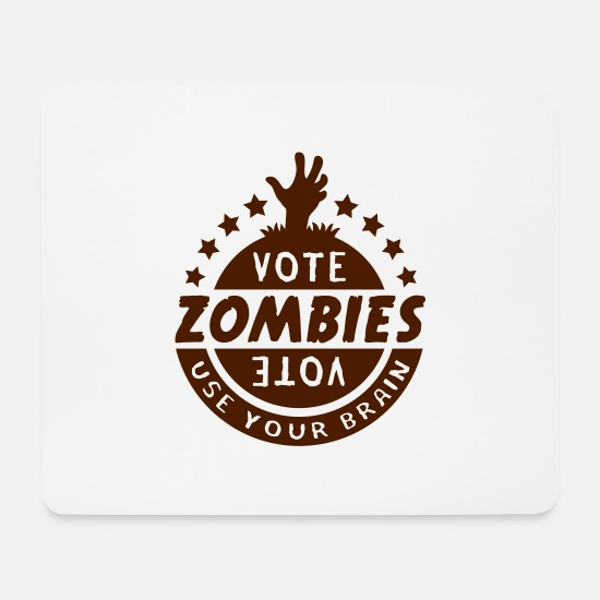 Horror Mousepads  - Vote Zombies - Mousepad Weiß