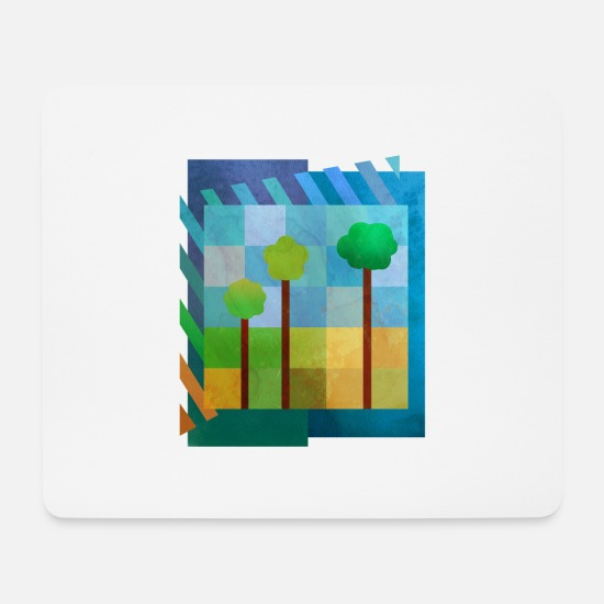 Forest Mouse Pads - Trees (minimal) - Mouse Pad white