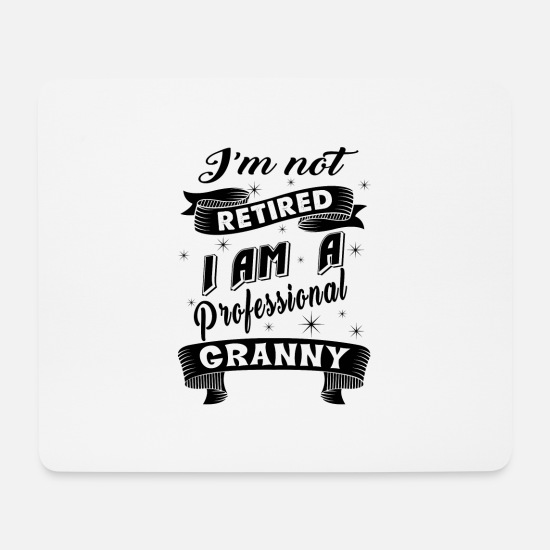 Granny Mouse Pads - PROFESSIONAL GRANNY - Mouse Pad white