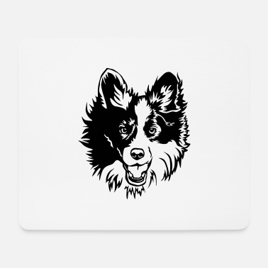 Border Collie Kopf - Mousepad