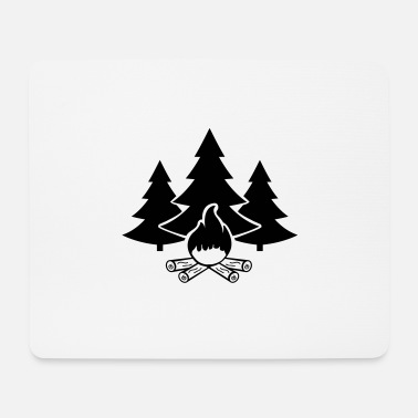 Boy Scouts campfire forest 1 - Mouse Pad