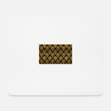 Art Art Deco Design Pattern Gold - Mouse Pad