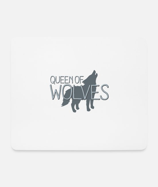 Small Mouse Pads - Queen of wolves - Mouse Pad white