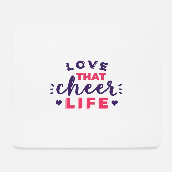 Gift Idea Mouse Pads - Cheerleader cheerleading cheer funny saying - Mouse Pad white