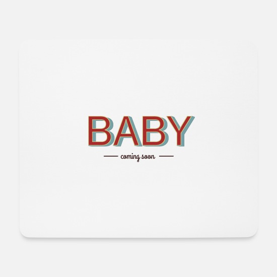 Baby Girl Mouse Pads - baby coming soon 2 - Mouse Pad white