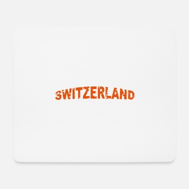 Swiss Switzerland lettering bent - Mouse Pad