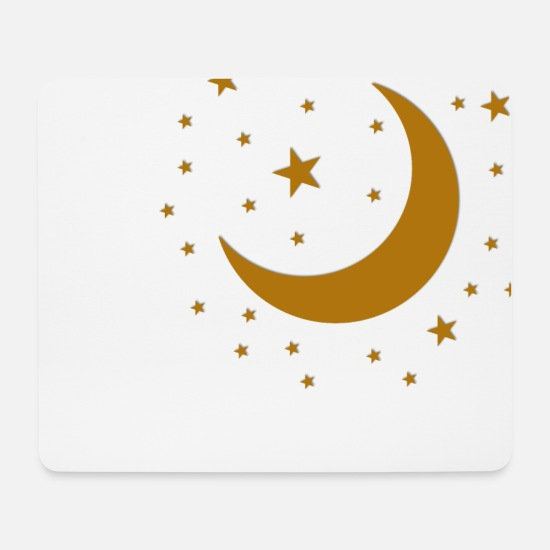 Starry Sky Mouse Pads - Starry sky - Stars and the Moon - Mouse Pad white