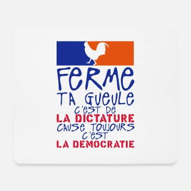 Dictatorship closes mouth dictatorship cause democracy governeme - Mouse Pad