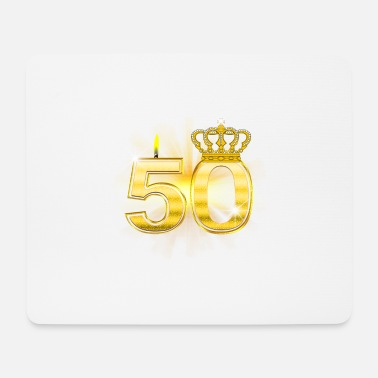 50 Birthday 50 - Birthday - Queen - Gold - Mouse Pad