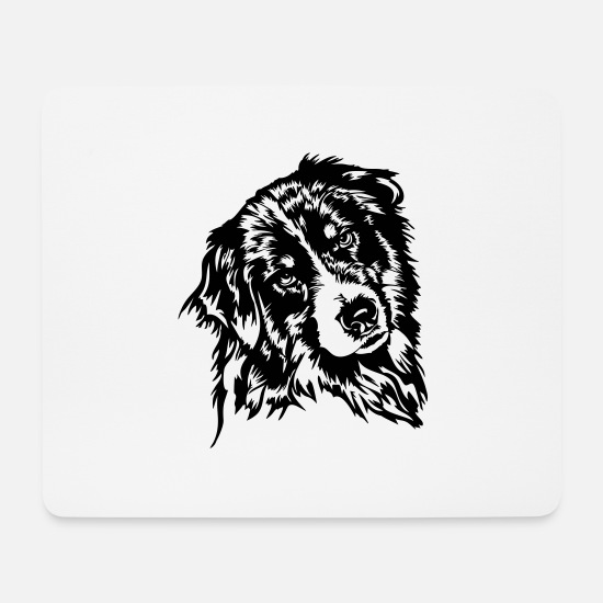 Aussie Mouse Pads - Australian Shepherd - Mouse Pad white