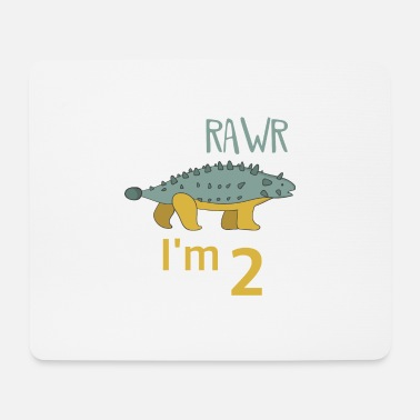 Boy Dinosaur 2 To the 2 birthday for boys Ankylosaurus - Mouse Pad