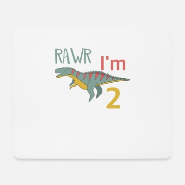 Boy Dinosaur 2 To the 2 birthday for boys Ceratosaurus - Mouse Pad