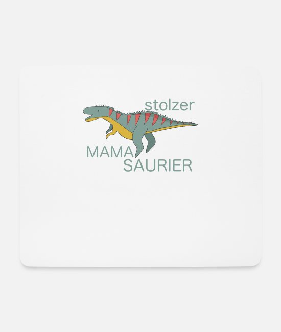 Proud Mouse Pads - Proud Mom Proud Mum Daddy Ceratosaurus - Mouse Pad white