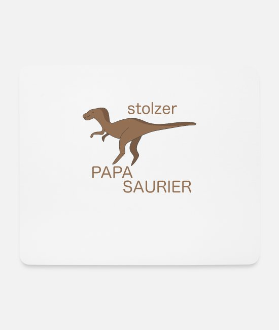 Father And Son Mouse Pads - Proud dad proud Papasaurier Velociraptor - Mouse Pad white