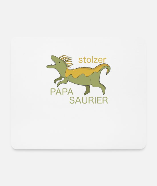 Father And Son Mouse Pads - Proud dad proud Papasaurier Mosasaurus - Mouse Pad white