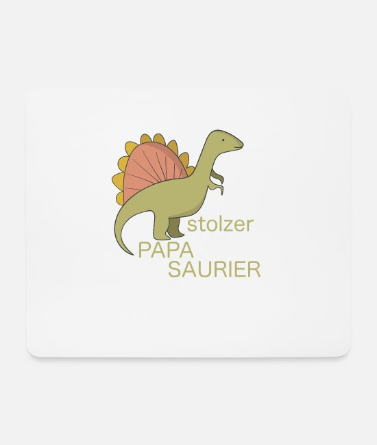 Father And Son Mouse Pads - Proud dad proud Papasaurier Spinosaurus - Mouse Pad white