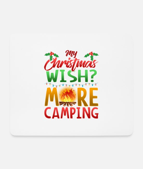 Camping Mouse Pads - Campsite Camping camp tent Christmas gift - Mouse Pad white