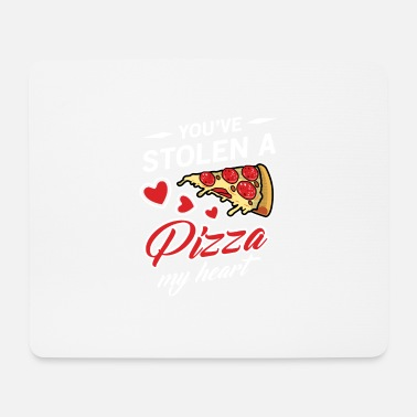Bacon You've Stolen A Pizza My Heart Valentine's Day - Mousepad