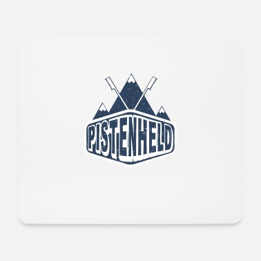 Winter Sports Slope hero skiing winter sports gift ski - Mouse Pad