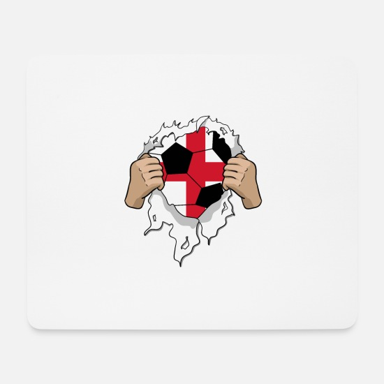 National Team Mouse Pads - England football gift - Mouse Pad white