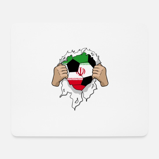 National Team Mouse Pads - Iran football gift - Mouse Pad white