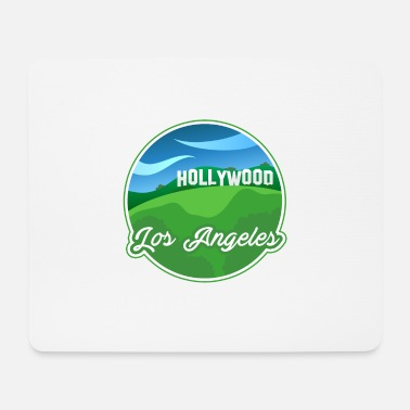 Places Of Interest Town Shirt Famous Place Los Angeles Hollywood - Mouse Pad