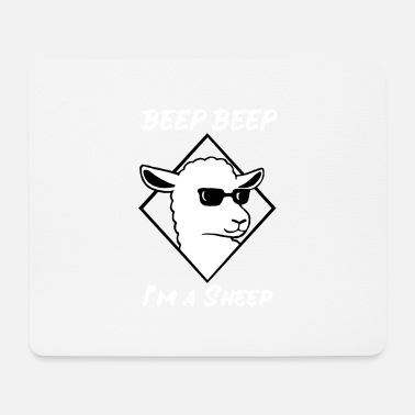 Sunglasses Cool sheep with sunglasses Mäh wool - Mouse Pad