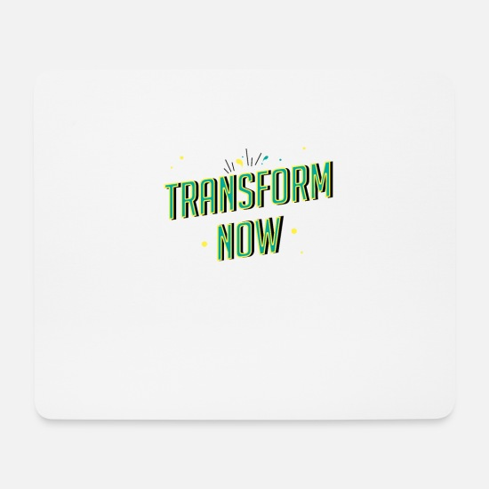 Body Building Mouse Pads - Transform now! - Mouse Pad white