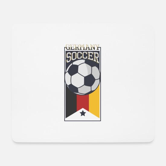 Fußball Mousepads  - Germany Soccer - Mousepad Weiß
