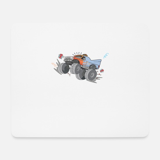Birthday Mouse Pads - Cool monster truck 6th birthday kids gift - Mouse Pad white