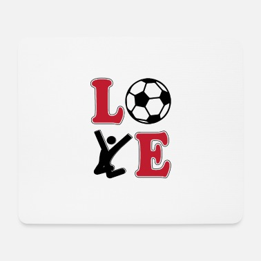 Football Love Football Football - Tappetino mouse